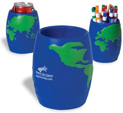 Custom imprinted Global Can Holder