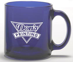 Custom imprinted Colored Glass Coffee Mug