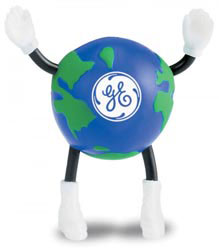 Custom imprinted Globe Guy Stress Reliever