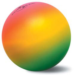 Custom imprinted Rainbow Round Stressball