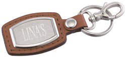 Custom imprinted Brushed Plate Key Ring