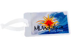 Custom imprinted Luggage Tag with Digital Imprint