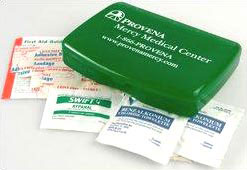 Custom imprinted Recycled Express First Aid Box