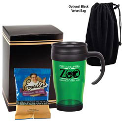 Custom imprinted Translucent Cafe Gift Set