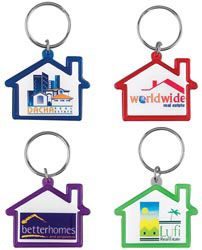 Custom imprinted Colorvision House Key Ring