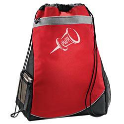 Custom imprinted CLOSEOUT Incline Deluxe Cinch Bag