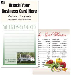 Custom imprinted Magnetic Business Card Note Pad - Green House