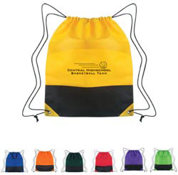 Custom imprinted Non-Woven Two-Tone Drawstring Sports Pack