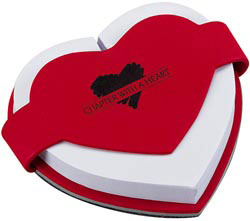 Custom imprinted Heart Shape Paper Notepad