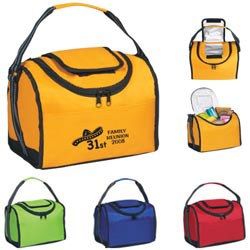 Custom imprinted Flip Flap Insulated Lunch Bag