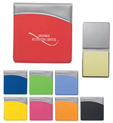 Custom imprinted Sticky Notes in Folder