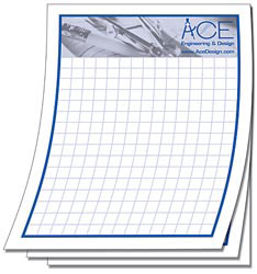 Custom imprinted 25 Sheet Note Pad - 4.25