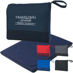 Custom imprinted Travel Blanket