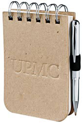 Custom imprinted CLOSEOUT Recycled Cardboard Jotter
