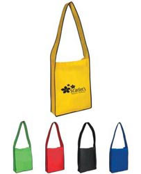 Custom imprinted Non-Woven Messenger Tote With Velcro Closure