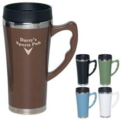 Custom imprinted 17 oz. Travel Mug With Stainless Steel Bottom