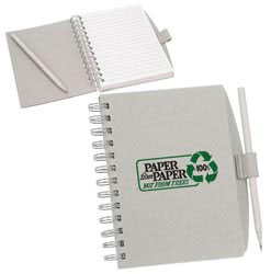 Custom imprinted Recycled Coordinator Journal Book