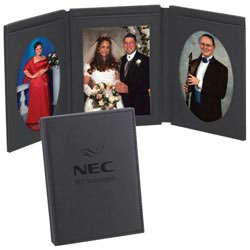 Custom imprinted Tri-Fold Photo Frame