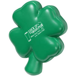 Custom imprinted Clover Stress Reliever