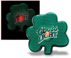 Custom imprinted Clover Blinking Light