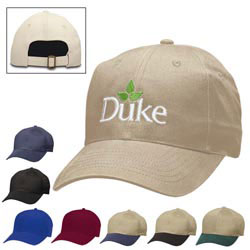 Custom imprinted 6-Panel Brushed Twill Cap - Screen Printed