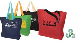 Custom imprinted Eco-Green Jute Tote