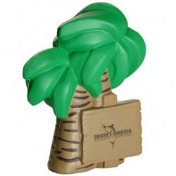 Custom imprinted Palm Tree Stress Reliever