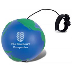 Custom imprinted Globe Bounce Stress Reliever