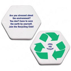 Custom imprinted Recycle Symbol Stress Reliever