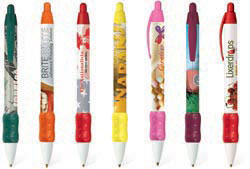 Custom imprinted BIC Digital WideBody Color Grip Pen