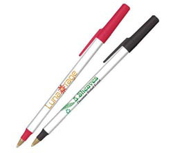 Custom imprinted Bic Round Stic Ecolutions Pen