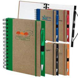 Custom imprinted Recycled Color Spine Spiral Notebook