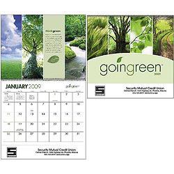 Custom imprinted Goingreen Calendar