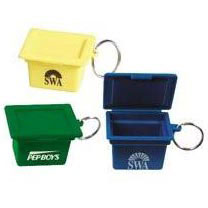 Custom imprinted Mini Recycling Box Key Ring