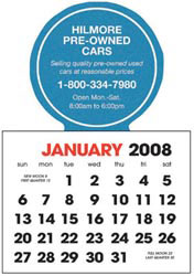 Custom imprinted Stick Up Calendar, English (13-Month)