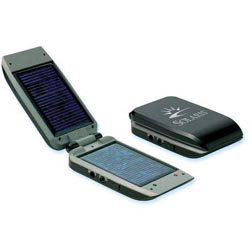 Custom imprinted Green Line- Solar Charger