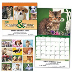 Custom imprinted Puppies & Kittens Calendar