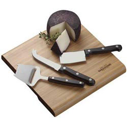 Custom imprinted Moso Bamboo Entertaining Cheese Set