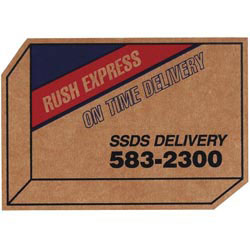 Custom imprinted Corrugated Delivery Box Magnet