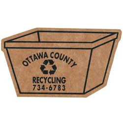 Custom imprinted Corrugated Recycling Bin Magnet