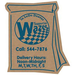 Custom imprinted Corrugated Delivery Bag Magnet