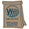 Corrugated Delivery Bag Magnet