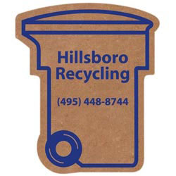 Custom imprinted Corrugated Trash/Recycling Bin Magnet