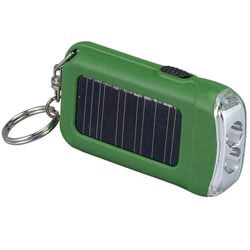 Custom imprinted Solar Eco LED Keychain