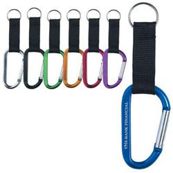 Custom imprinted 8mm Carabiner