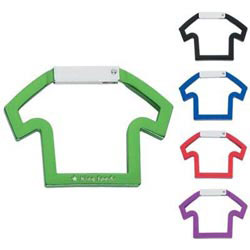 Custom imprinted CLOSEOUT T-Shirt Shape Carabiner