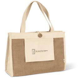 Custom imprinted Organic Spa Tote II