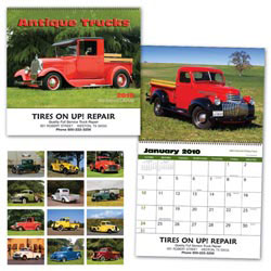 Custom imprinted Antique Trucks Calendar