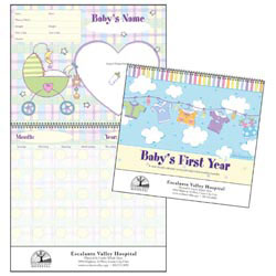 Custom imprinted Baby's First Year Calendar