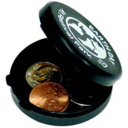 Custom imprinted Recycled Round Coin Case